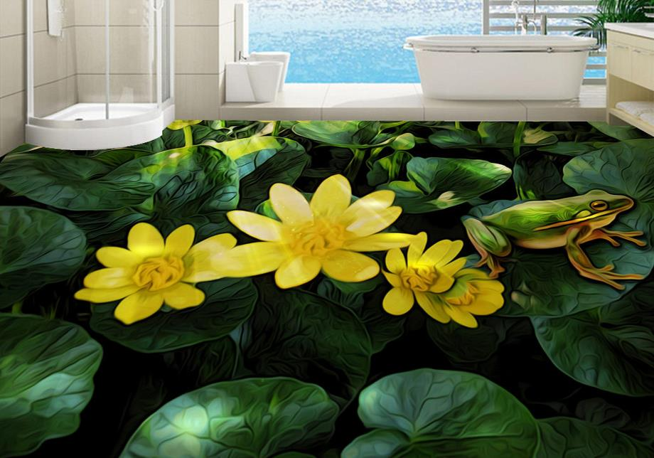 Online get cheap frog wall murals for Cheap green wallpaper