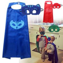 2016 cosplay PJ MASKS toys (1cape + 1 mask ) Superman Spiderman Batman superhero Masks For Home Party Fancy/Practical Jokes toys(China (Mainland))