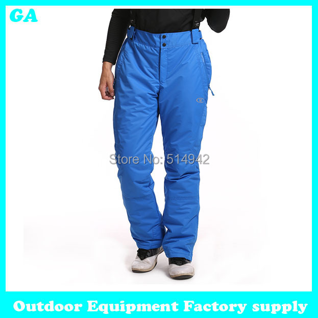 Dropshipping new fashion thicken -30 outdoor waterproof windproof thermal clothing ski pants keep warm winter trousers men
