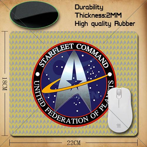 1PC Free Shipping Support design, Star Trek the Starfleet mouse pad most durable 22x18 CM<br><br>Aliexpress