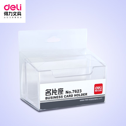 2pcs/lot Desktop Business Display Card Holders for Desk Plastic Card Stand Office(China (Mainland))
