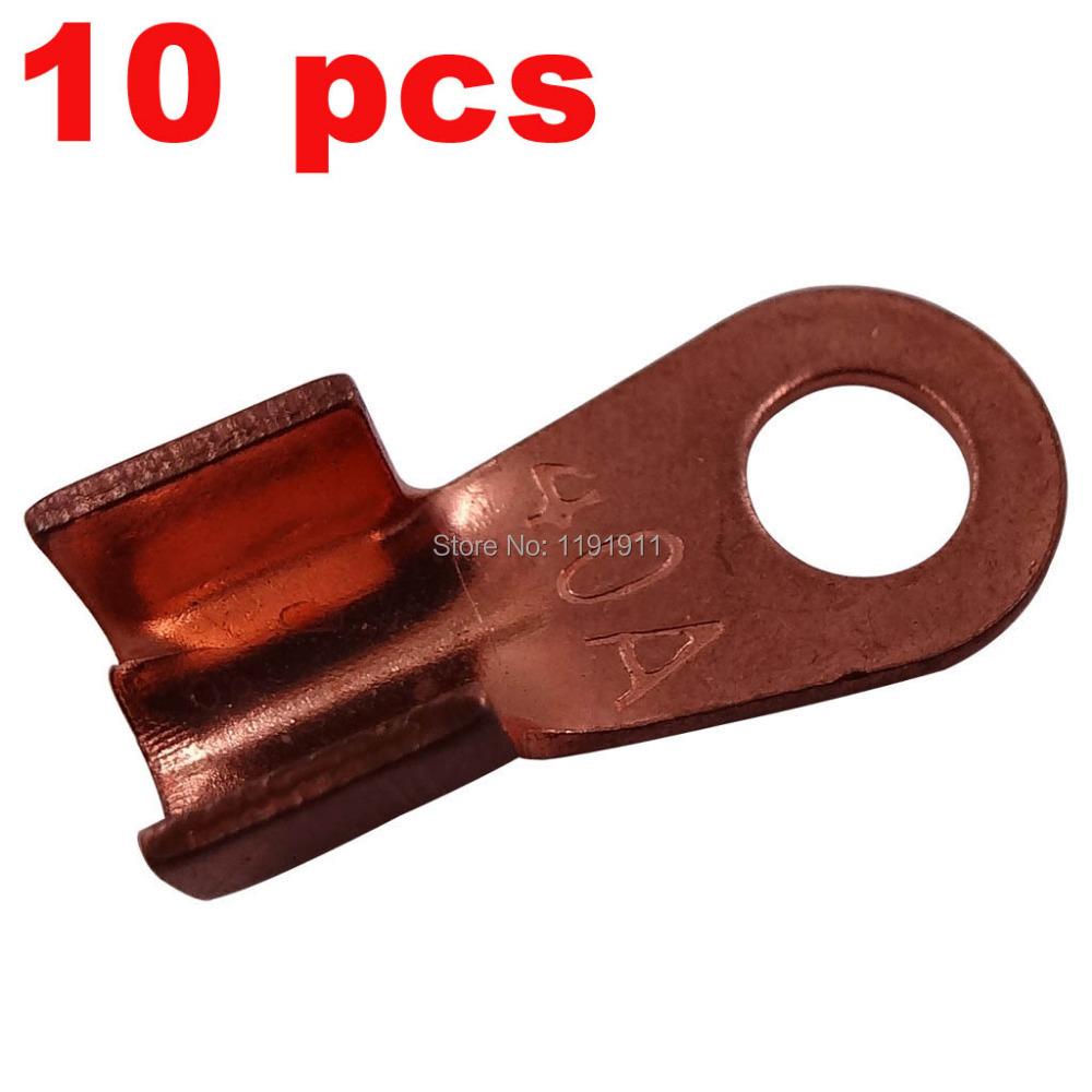 10 х медь у . е . луг аккумулятор кабельный разъем терминал соединительной муфты кольцо язык 20A толщина 1.1 мм