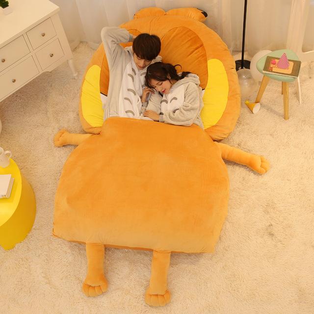 2016 220x150cm Large Size Cartoon Anime Movie & TV Garfield Plush Stuffed Soft Kids Toys Giant Tatami Bed Mattress Big Kawaii Do(China (Mainland))