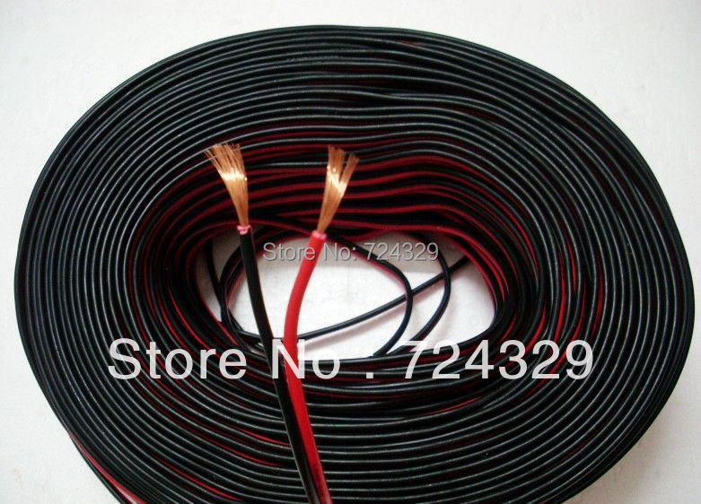 speaker wire Red and black copper speaker wire audio cable 20 meters available speaker cables free shipping