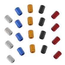 4Pcs/Lot Universal Aluminum Car Tyre Air Valve Caps, Bicycle Tire Valve Cap, Car Wheel Styling Round Blue Silver Gold Red