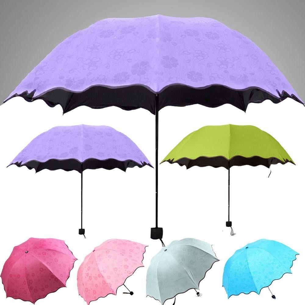 Fashion Colorful Anti-UV Parasol Flower 3 Folding Sun/Rain Windproof Umbrella(China (Mainland))