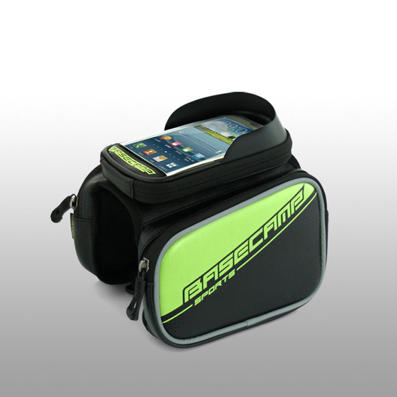 New 1.8L Waterproof Cycling Bike Bicycle Front Bag Top Tube Frame Bag Pannier Double Pouch for 4-5.5 inch Phone(China (Mainland))