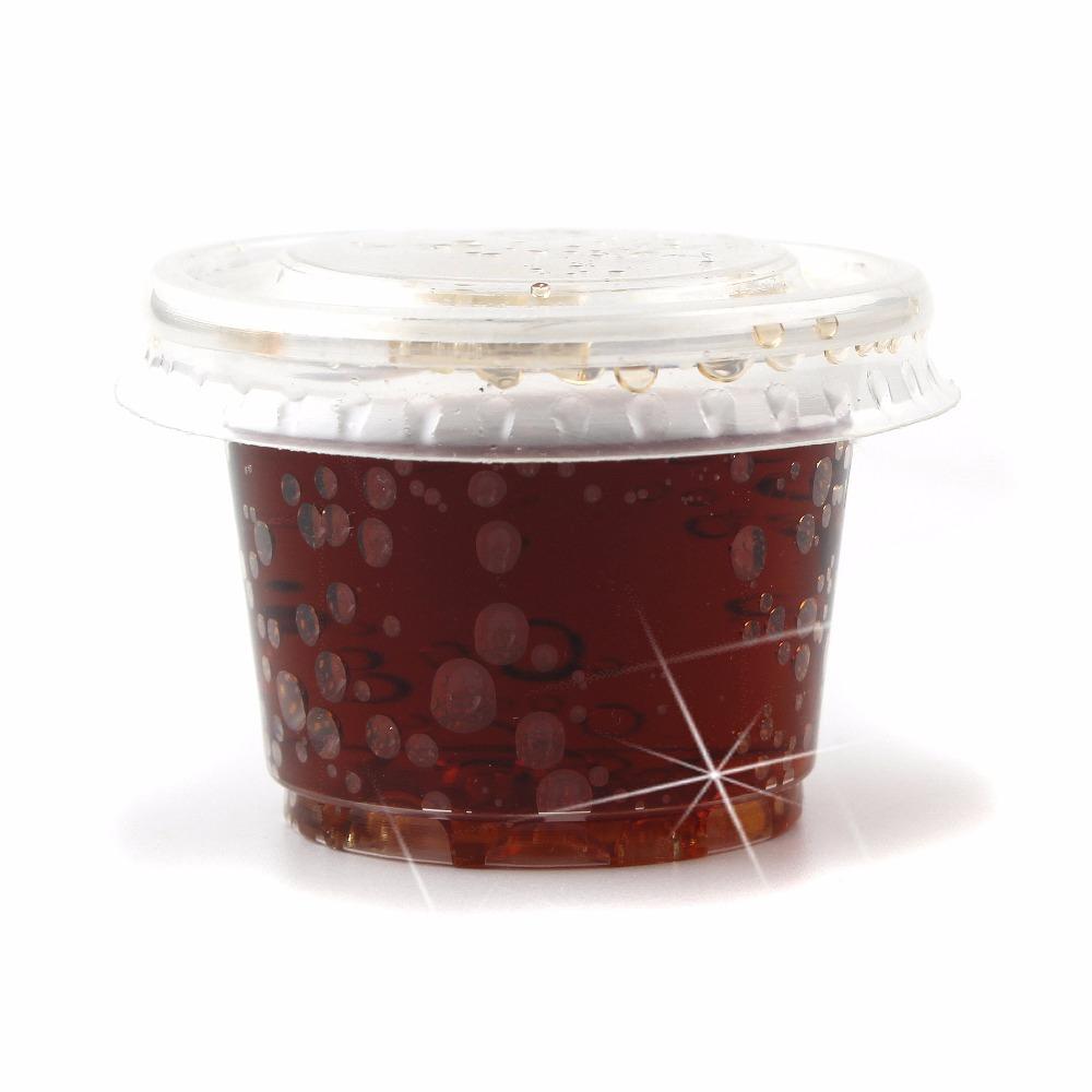 100pc pack 30ML Plastic Disposable Vodka Jelly Shot Glass Cups With Lids Vodka Jelly Pots Leak