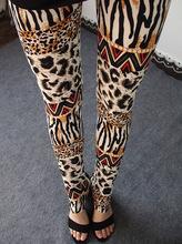 Leggings Causal Womens Leggins 2015 Flowers Leopard Leggings Print Skinny Pants Elastic Calca Legging Feminina Sale HDDK0012(China (Mainland))