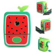 2 Sets/Lot Watermelon Pencil Sharpener Hand Crank Manual School Stationery Kids(China (Mainland))