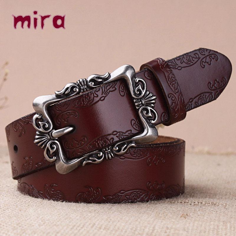 Bai clothing cool Korean all-match folk style leather ladies belt leather belt female money wide jeans waistband(China (Mainland))