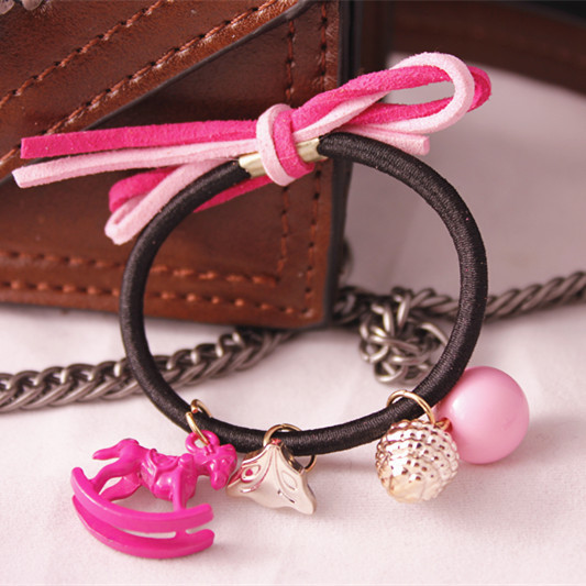 fashion Kids childrens headwear Accessories for girls elastic hair bands bow hair clips eight color free shipping(China (Mainland))