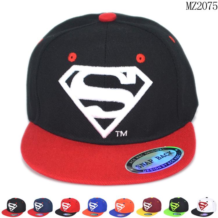 cool fashion children supere man logo style boys adjustable hats kids free size baseball caps 1pcs Free Shipping<br><br>Aliexpress
