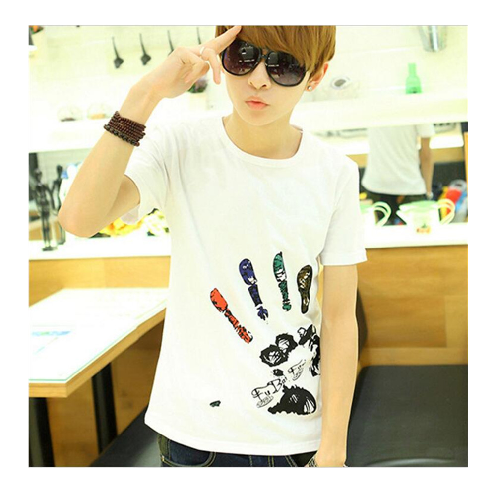 MT034 2016 Fashion T shirts Men's Shorts Sleeve Brand New Design Summer male Tops Tees Casual T shirts For Man medusa liverpool(China (Mainland))