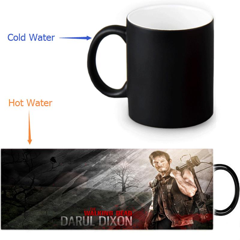 The Walking Dead magic color changing coffee tea milk mug cup funny novelty travel custom morphing mugs 12 OZ/350ml(China (Mainland))