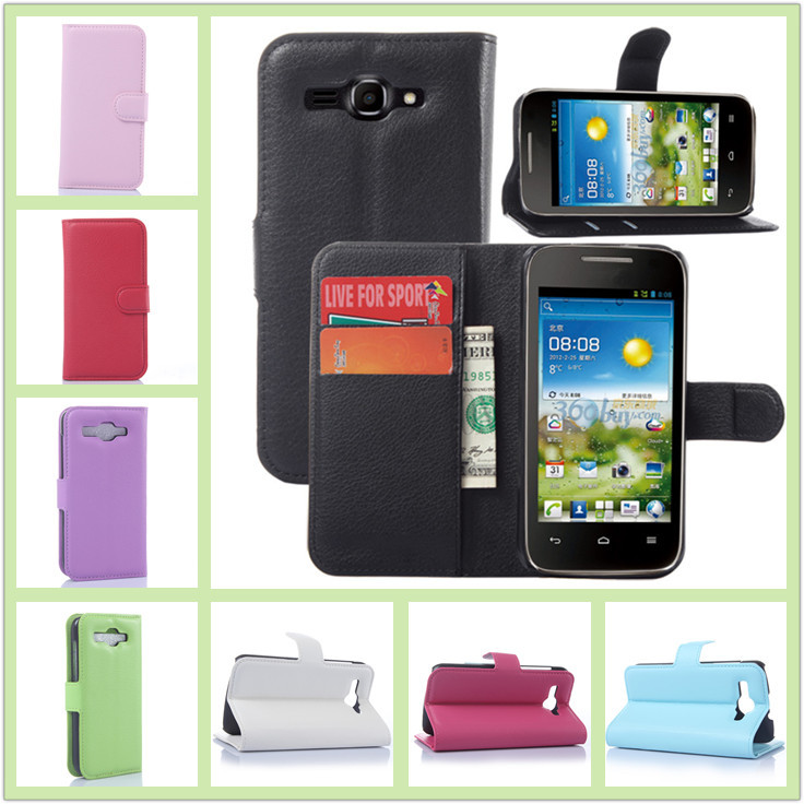 Huawei Y540 phone case litchi texture leather Ascend flip credit card holder - BOSO Technology Co., Ltd (ShenZhen store)