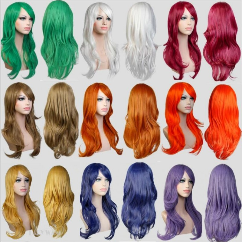 13colors available long wavy white/red european westen daily hair synthetic hair wig,hot fashion ladies party hair cosplay wig<br><br>Aliexpress