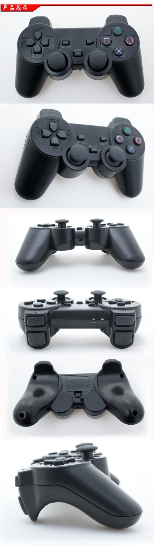 image for Wireless USB PS3 PS2 Game Controller Joystick Gamepad With PS2 PS3 USB