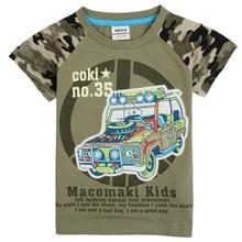Nova bambino abbigliamento bambini ragazzi t shirt nuova estate moda bella auto ragazzo dei vestiti dei bambini magliette casual stampa maglietta del ragazzo(China (Mainland))