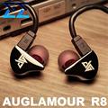 100% Newest Original AUGLAMOUR R8 In Ear Earphones Ear Hook Metal Earphones Upgrade HIFI Headphones DIY Headset