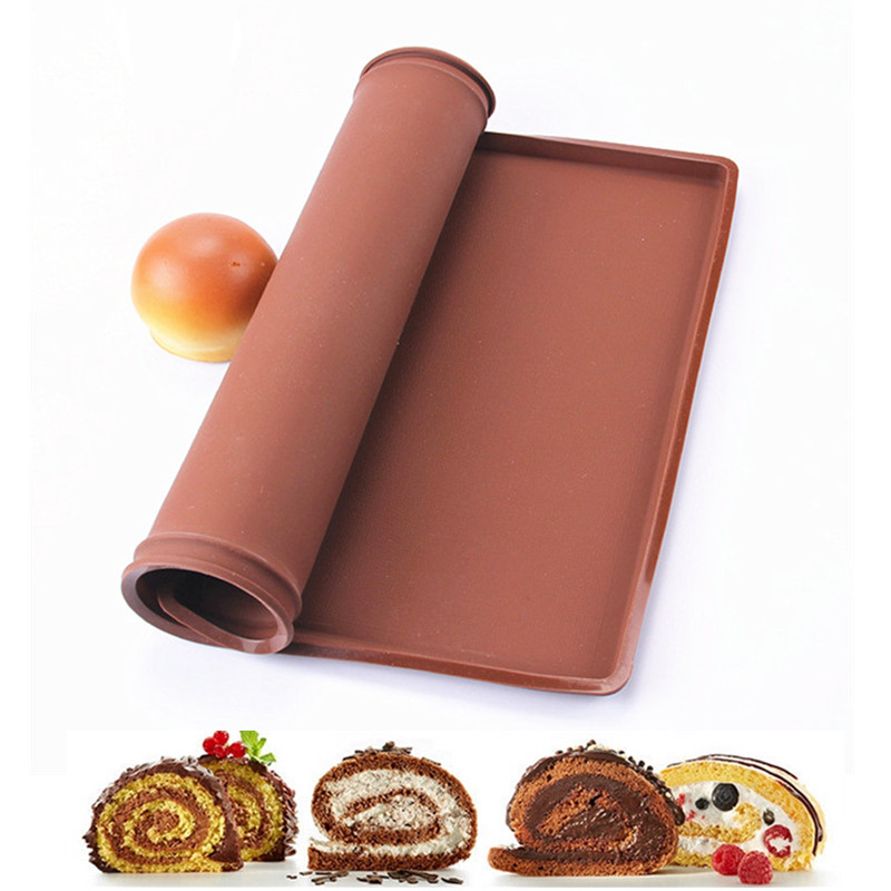Big size 37*28CM Non-Stick Silicone Baking Mat DIY Macaron bread Cake Pastry dessert making tools Oven Swiss Roll Pad Bakeware(China (Mainland))