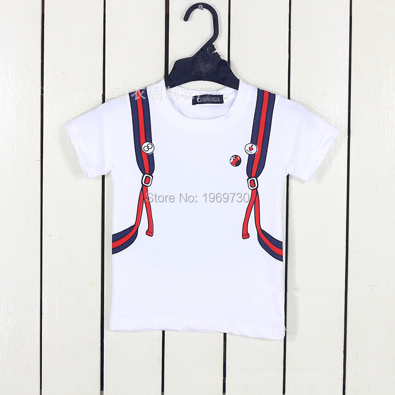 2016 summer fashion luxury brand children's clothing boys baby short sleeve t-shirt tops 100% cotton perfect printing kids Tees - Anze store