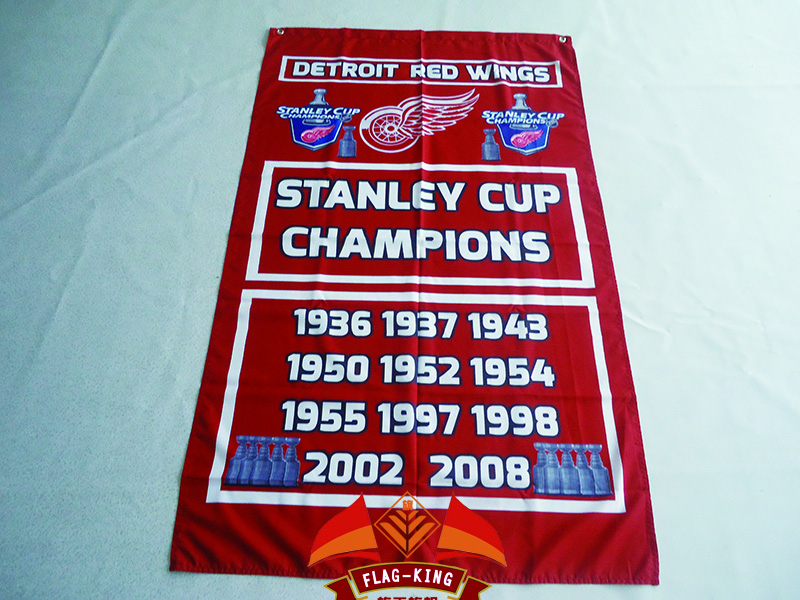 Detroit Red Wings Nation Flag 3ft x 5ft Polyester NHL Detroit Red Wings Banner Size 150*90cm Custom flag(China (Mainland))