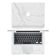 Weiß Marmorkorn Ganzkörper-abdeckung Laptop Aufkleber Aufkleber Fall Für Apple Macbook Air Pro Retina 11 13 15 Zoll Schützende Haut(China (Mainland))