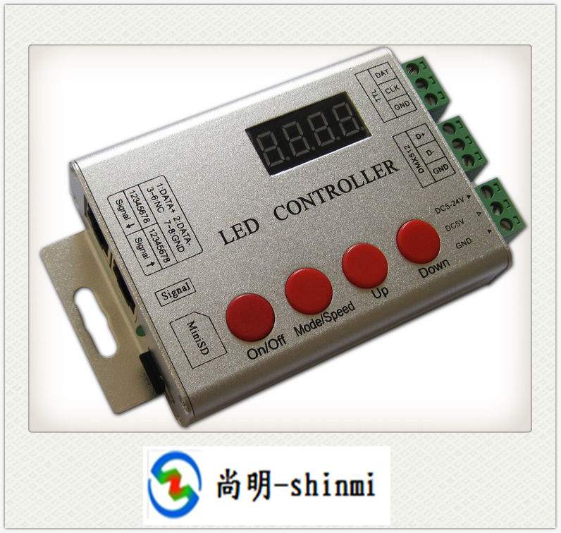 HOT!! LED full-color controller with - built-in above 100 - SPI - DMX512 - synchronous co