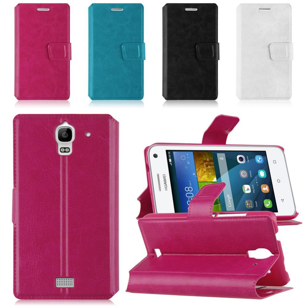 Magnetic Flip Leather Snap On Back Case Cover Skin Protector For Huawei Ascend Y360(China (Mainland))