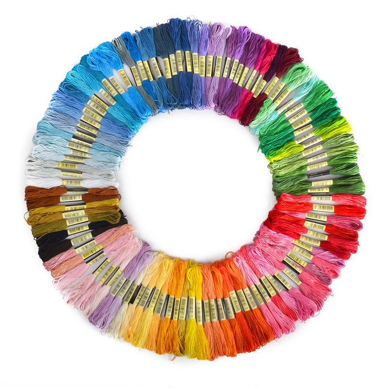 Free shipping! 100 pieces Similar DMC color cross threads / cross stitch / cross stitch embroidery thread,,(China (Mainland))