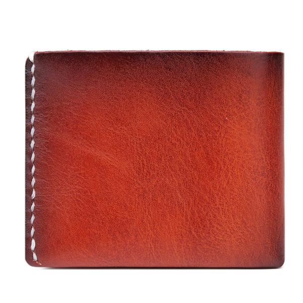 High Qualtiy Genuine Leather Wallet Men Fashion Handmade Cowhide Casual Men Wallet(China (Mainland))
