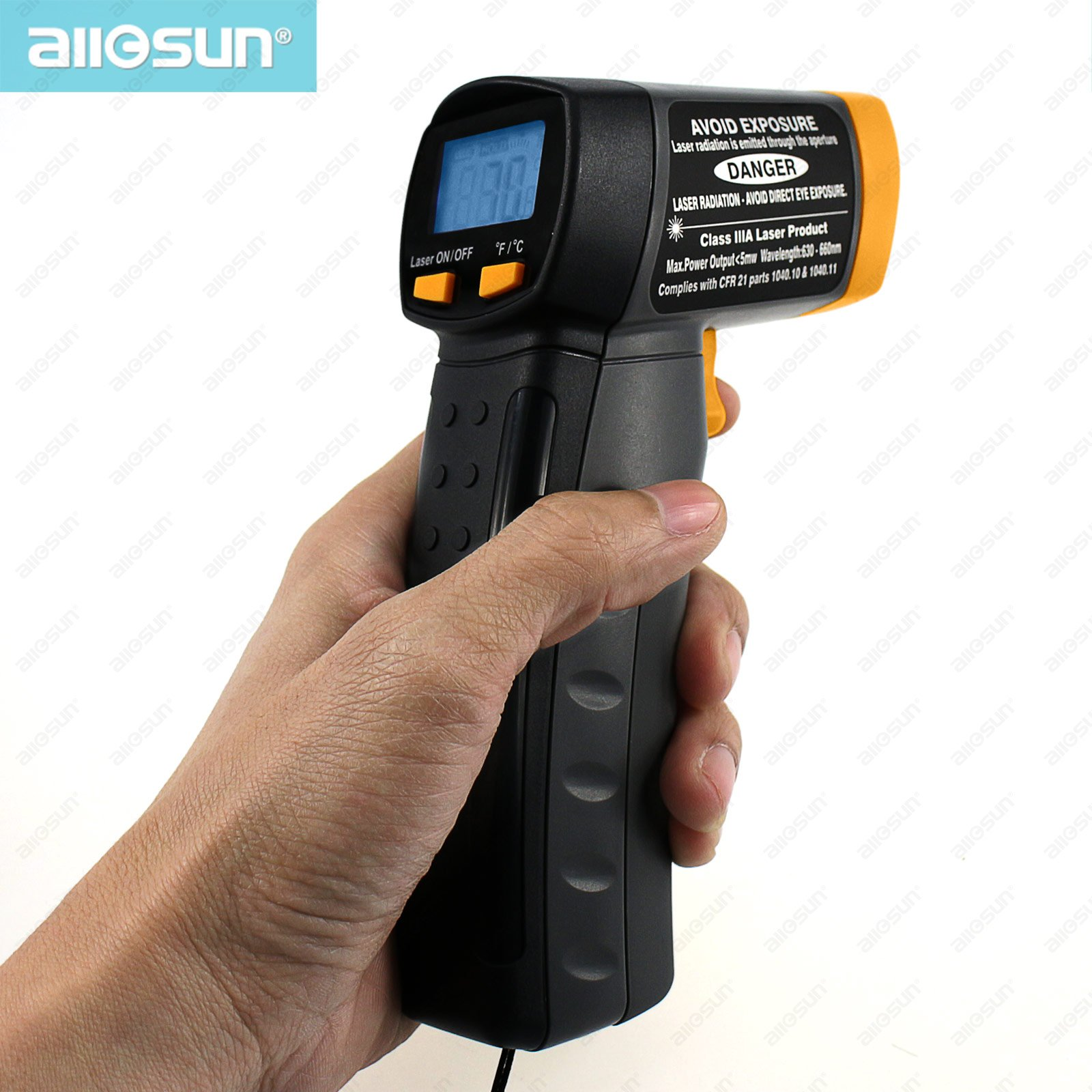 all-sun EM520A Non-contact Infrared Thermometer Portable Temperatures Meter Practical Digital Laser Tester<br><br>Aliexpress