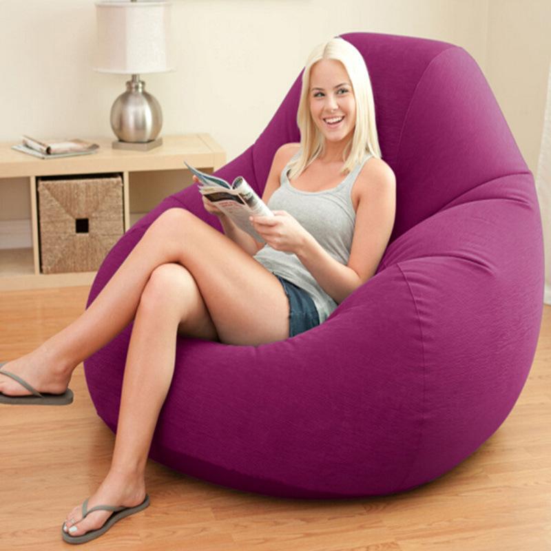Waterproof Purple Stripes Flocking Single Lazybones Inflatable Sofa Back Of A Chair Folding Sofa Bed Corner Sofa(China (Mainland))