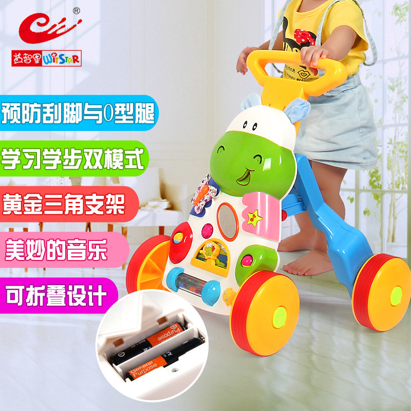 2015 children puzzle learning toy music foldable baby walker walking cart vehicle gifts