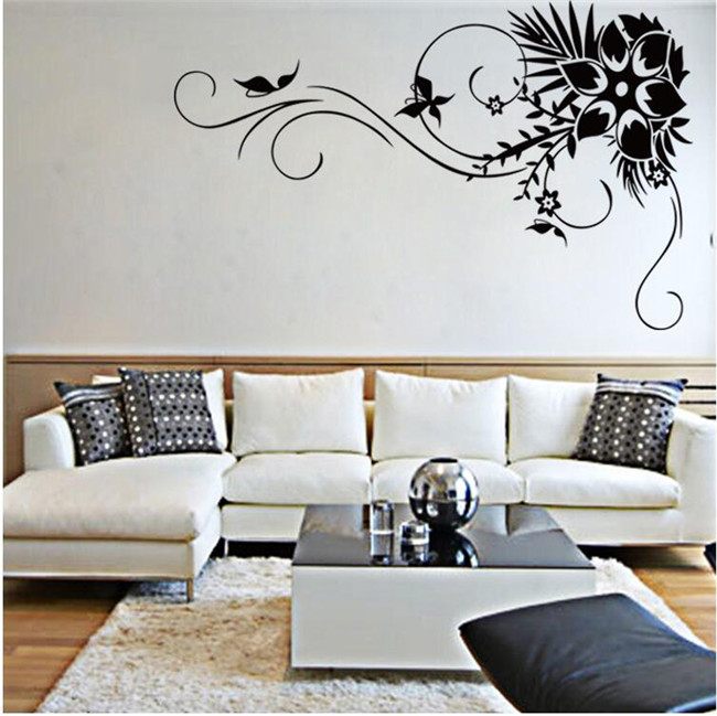 The new flower vine background living room decorative painting / waterproof removable wall stickers / Home Supplies(China (Mainland))