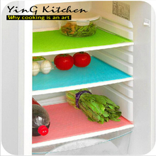simple solid 9pcs/lot green red blue Refrigerator Cupboard pad Dining table Drawer locker table pad Waterproof PVC pad(China (Mainland))