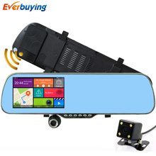 5″ Android Car DVR Dual Camera with Radar Recorder GPS Rearview mirror Video Recorder dash cam parking car dvrs