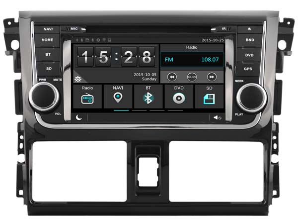 Car Gps Dvd Head Unit Radio for Toyota Yaris Vios 2014 Navigation Phone Mirror HD Multimedia 3G WIFI DVR SWC After Market(China (Mainland))