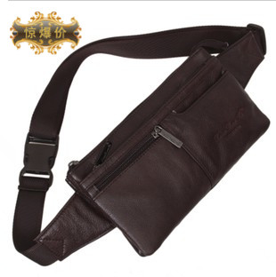 Orange Bag Bolsos Bolsa Genuine Leather Bag Male Waist Pack Casual Outdoor Cowhide Ultra-thin Close-fitting Mobile Phone Chest <br><br>Aliexpress