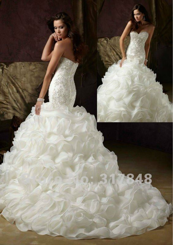Gorgeous Mermaid Wedding Dresses : Aliexpress buy freeshipping beautiful gorgeous