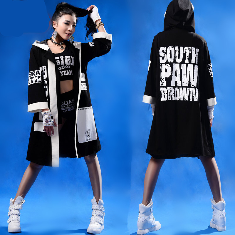 2015 New fashion autumn loose reggae dj costume top sweatshirts with a hood letter hoodies Boxing street dance hip hop outwearОдежда и ак�е��уары<br><br><br>Aliexpress