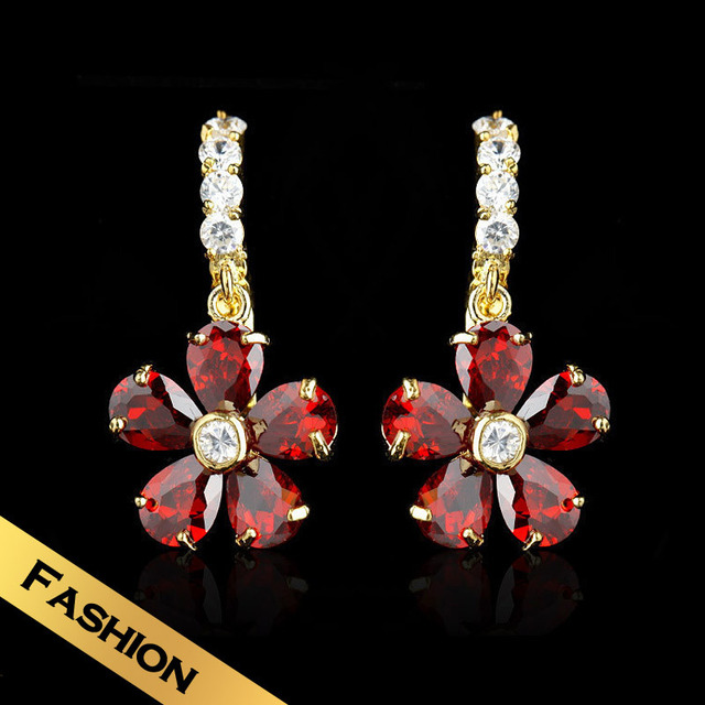 Special Stud Earrings Synthetic Zircon Synthetic Diamond Snow Fashion Flowers Design Free Shipping Jewelry EHG11B07
