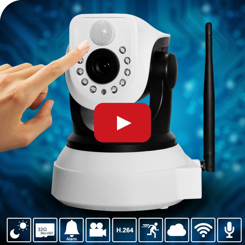 HD 2.0MP Security Camera WIFI Wireless IP Camera Support PTZ,Pan/Tilt,TF Slot,IR Cut,PIR Alarm,Phone Alarm,Phone Remote Control(China (Mainland))