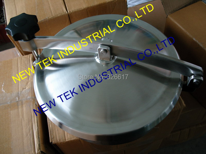 "450mm Heavy Duty Round Manway, 18"" Non-pressure Manhole Cover, Stainless Steel 304 Food Grade Mandoor(China (Mainland))"