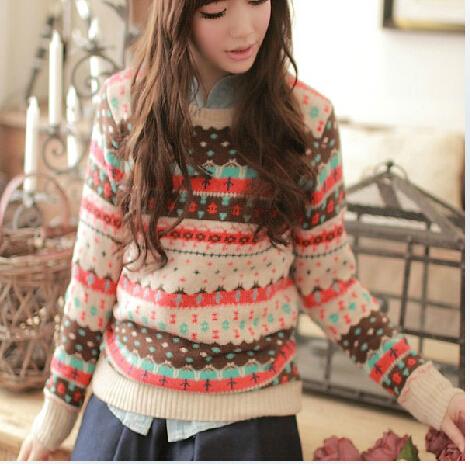 2015 Spring New Women Slim Short Primer Shirt Sweaters Round Neck Knit Thick Sweater Woman(China (Mainland))