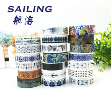 20 pcs/lot DIY Japanese Paper Decorative Adhesive Tape Cartoon Navigation series Washi Tape/Masking Tape Stickers Size 15mm*10m(China (Mainland))