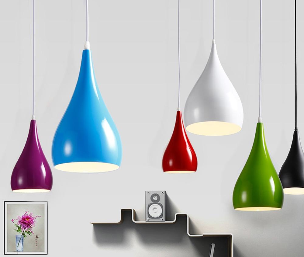 Modern Aluminum Pendant Lights 7 Colors DIY Lighting Multi-color Silicone E27 Bulb Holder Lamps Home Bar Decoration(China (Mainland))