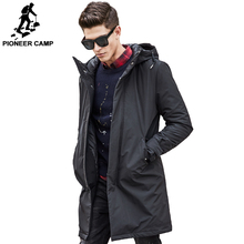 Pioneer Camp long thicken winter Jacket men brand clothing male cotton winter coat New top Quality black down Parkas men 611801(China (Mainland))