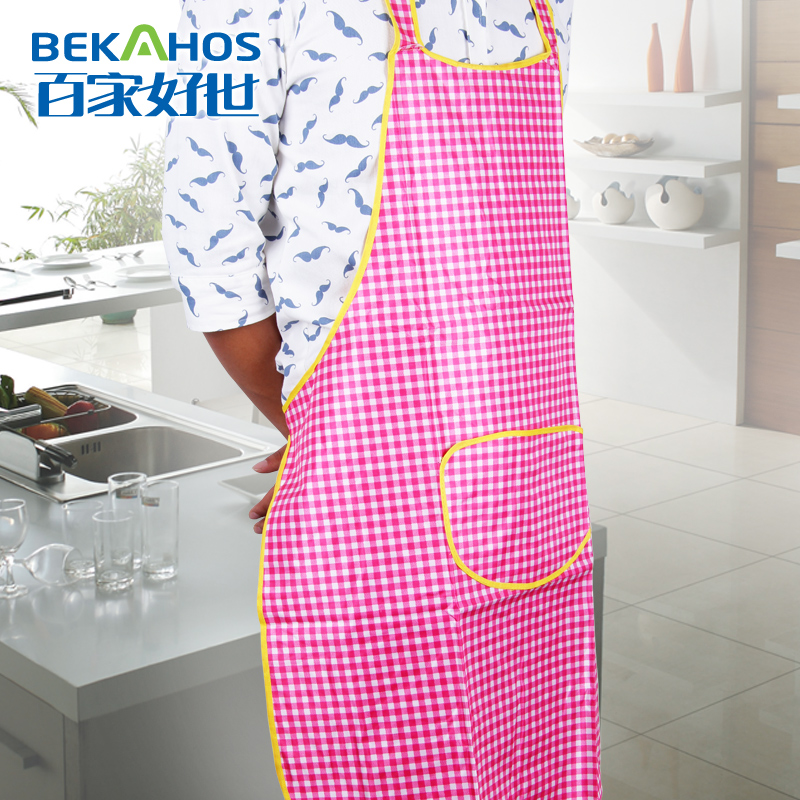 PVC anti-fouling waterproof Aprons Cleaning housework aprons for woman Waiter Apron Fashion housework Chef kitchen aprons(China (Mainland))
